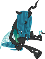 Not-a-Pony request 137 - Chrysalis isn't well by ah-darnit