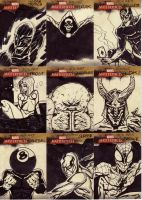marvel sketch cards 133to141 by anjinanhut
