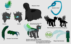 Reference Sheet for my Twins, Shadow and Specter by ZeksMorshar