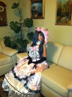 Lady ciel Phantomhive cosplay sitting by ChibitaliaAph1