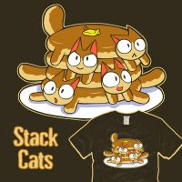 Pancats - Stack Cats - woot by amegoddess