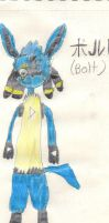 Bolt the lucario by grantjoey45