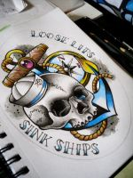 Sailor Skull Design by Frosttattoo