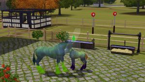 Sims 3 - Oh God That Foal by ToxicCreed