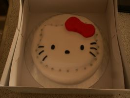 Hello Kitty Cake by Yiinx