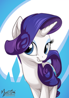 Rarity Portrait by mysticalpha