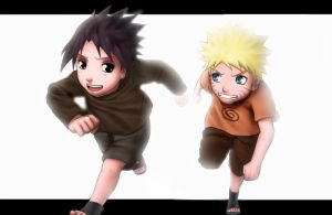 naruto and sasuke by radouane20
