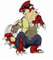 Were-Pokemon # 5: Groudon! by V8Arwing67