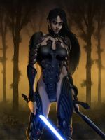 Neera - The Girl with the Vong Armor by Master-Cyrus