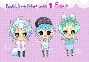 Pastel Goth Adoptables by Munrou