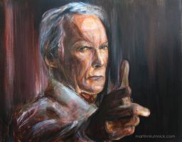 Clint Eastwood by Martinkumnick