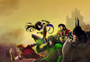 Medieval Justice League by Jonny5Alves