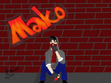 Street Artist Mako by The-Ninja-Rabbit