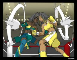 Linez vs Isabel round 1 by deadpoolthesecond