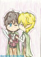 Frodo x Sam by ThePastelHobbit