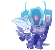 chibi shockwave blurr by mizz-ninja