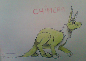 Quadrupedal Chimera? by FluffyGreenSheep