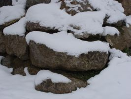 Rock in snow I by fairling-stock