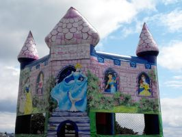Stock: Disney Castle Inflated by Stock-By-Michelle