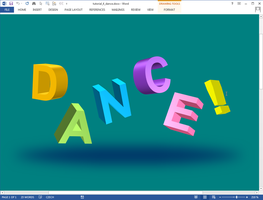 Dance text effect in Microsoft Word by upiir