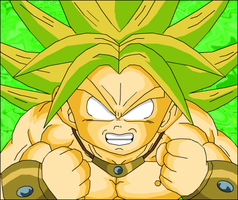 Kid Broly Legedary form by eggmanrules