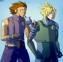 two spiky-haired dorks by General-RADIX