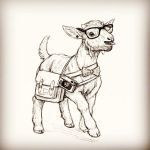 Hipster Goat by T-Tiger