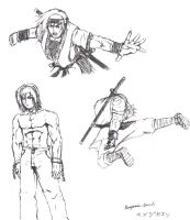 Hayate action poses by FFSquall