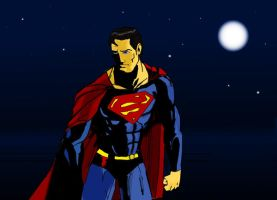 Superman In The Night.... by Lightning-Powered