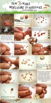 Miniature Toadstool Tutorial by vesssper