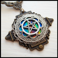 Victorian Pentagram Necklace by poisons-sanity