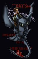 A Boy and His Dragon by inhonoredglory