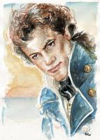 Horatio Hornblower watercolour by rum-inspector