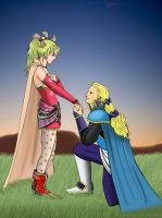 Terra and Edgar by odinforce23