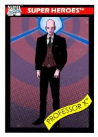 Marvel Trading Card Redesign of Professor X by MannyHernan