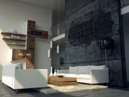 livingroom and broken concrete v.2 by opengraphics