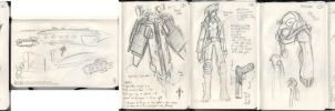 Moleskine Sketches 2 by jollyjack