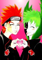 Pain And Zetsu As BFF by AndyApina