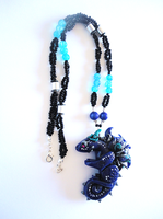 Blue Dragon Necklace by Lucky101212