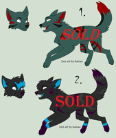 wolf adoptables -CLOSED- by AwkwardWox