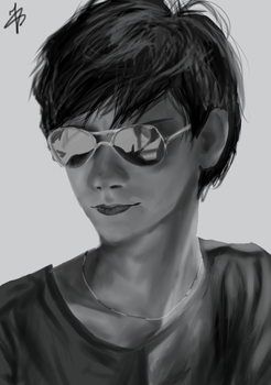 Thomas Brodie Sangster by Lin-Art