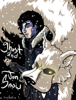 Jon Snow and Ghost by CraigArndt