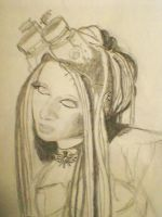 My Drawing of Miss Steam Dream 1 - step two by ArtisOneofThem