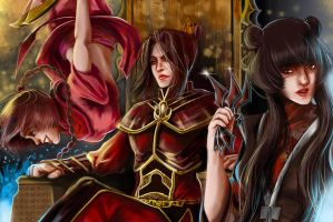 Azula, Ty Lee and Mai by RossoWinch