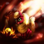 The Flareon egg by PoorOldDragon