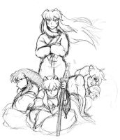 InuYasha's Forms - WIP by CarnivorousCaribou