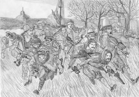 Heraugiere's Raid, Breda, March 4, 1590 by FritzVicari