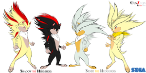 Shadow and Silver the Hedgehog Restyle sheet by GunZcon