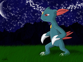 Sneasel Prize Art by Dragon-Minded
