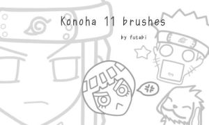Konoha 11 brushes. by futabi